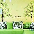 70inch GREEN LOVER AB TWINS TREE ROOM DECAL WALL DECOR Wall Sticker