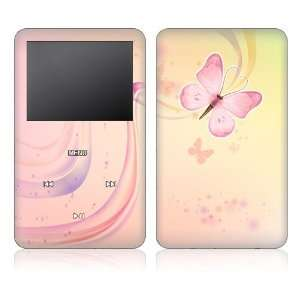 Pink Butterfly Decorative Skin Decal Sticker for Apple