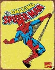 Vintage Retro Spider Man Sign Marvel Comic 1960s