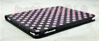 Polka Dots Design Leather Smart Cover Case W/Stand For IPAD 2