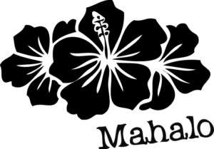 Mahalo Logo Decal Sticker