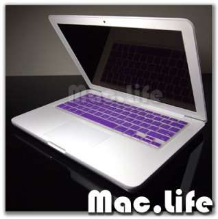 PURPLE Silicone Keyboard Cover for Macbook White 13