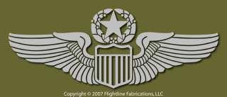 US Air Force Command Pilot Wings Vinyl Sticker VLCPW2