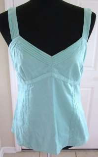 Ann Taylor Loft Seafoam Green Sleeveless Top Sz 6