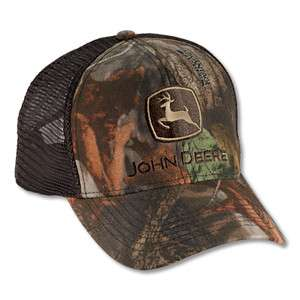 NEW John Deere Advantage Timber Camo Brown Mesh Cap JD Hat LP14594