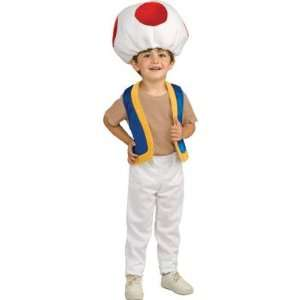 Super Mario Brothers Childs Costume, Toad Costume Small