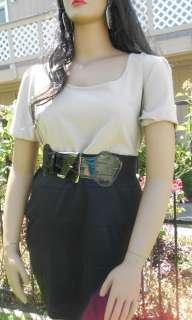 Libian Plus Size Two Tone Dress w/ Belt