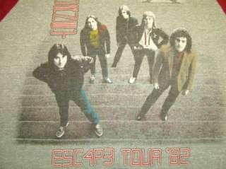 vtg JOURNEY CONCERT t shirt 1982 TOUR ESC4P3 RAGLAN M