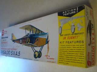 STERLING MODELS * ANSALDO S.V.A 5 * F/F MODEL AIRPLANE KIT *