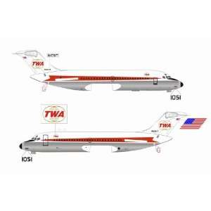 Jet X TWA DC 9 Model Airplane