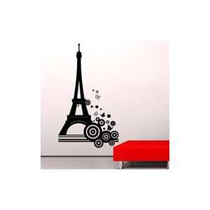 Bubble tower eiffel tower decals  vinyl wall stickers