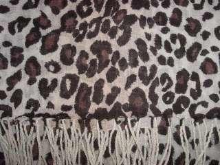 NWT 100% PASHMINA WOOL SCARF SHAWL WRAP GIFTS ♥LEOPARD♥ PRINT (#49