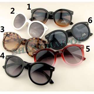 Cute Round Wayfarer Style Sunglasses Shades Sunnies Big Frame Stud