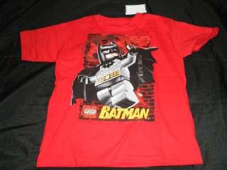 NWT Kid Boys LEGO Batman Red Shirt Top Tee L 7 NEW