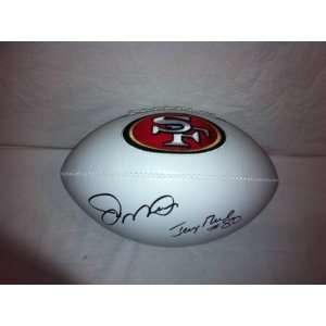 Joe Montana & Jerry Rice Autographed Hand Signed San Francisco 49ers