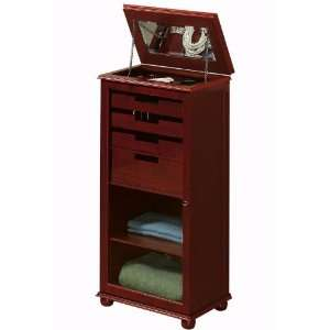 Hampton Bay Linen Storage Cabinet With Jewelry Storage: Home & Kitchen