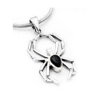 Sterling Silver Onyx Black Widow Spider Ring Size 5(Sizes 5,6,7,8,9,10