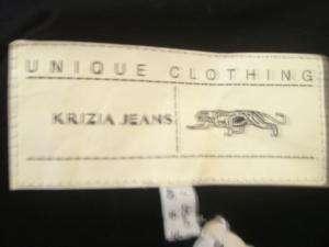 KRIZIA JEANS gray wool jacket size 6 GREAT