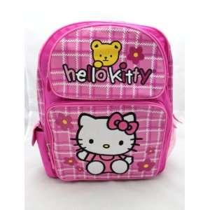 Hello Kitty Large 16  School Backpack Bag   PINK BEAR