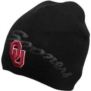 Oklahoma Sooners Black Knuckles Cuffless Beanie