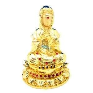 Kwan yin Buddha   Jewelry Trinket Box Swarovski Crystal (JF1535)