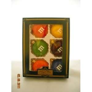 M&Ms Candy Mutli Colors Kringle Glass Christmas Ornament