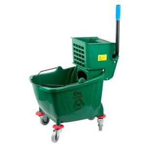 Green 36 Quart Mop Bucket & Wringer Combo Health