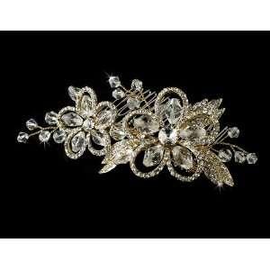 Swarovski Crystal Bridal Side Hiar Comb Jewelry