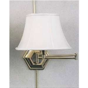 Living Well 7005SB Solid Brass Swing Arm Wall Lamp