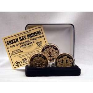 Green Bay Packers 24kt Gold Super Bowl Coin Set