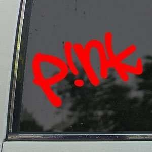 Pink Red Decal Car Truck Bumper Window Vinyl Red Sticker