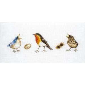 Three Little Birds   Jet Cross Stitch Kit Arts, Crafts