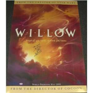 Warwick Davis (Willow) Signed Autographed Movie Poster (PSA/DNA COA