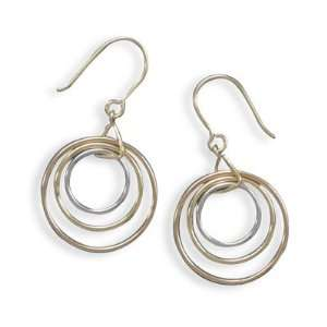 , 14k Gold Plated and Rose Gold Plated French Wire Earrings Jewelry