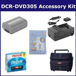 Sony DCR DVD305 Camcorder Accessory Kit includes ZELCKSG