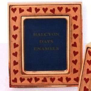Halcyon Days Enamels The St. Valentines Day Collection Red Heart Frame