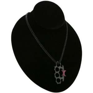 TapouT Ladies Black Brass Knuckles Necklace: Sports & Outdoors