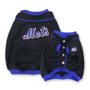 New York Mets Baseball Dog Puppy Pet Jersey Shirt LARGE