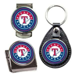 Texas Rangers Key Chain Money Clip Magnet Gift Set
