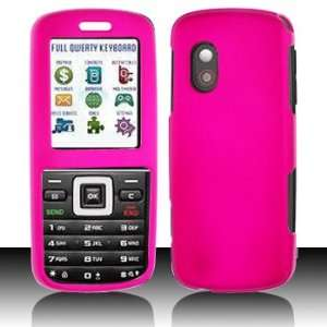 Samsung T401g Plastic Rubberized Hot Pink Case Cover