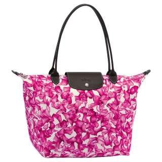 Authentic Longchamp Darshan Flower M Le Pliage Bag Tote