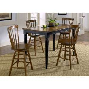 Creations II Rectangular Counter Height Leg Table   Two Tone