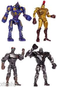 Real Steel 7.5 Figure Set Noisy Boy, Atom, Midas, Zeus Movie LICENSED