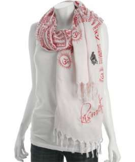 Sir Alistair Rai light pink Kismet fringed scarf