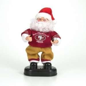 49ers NFL Animated Rock & Roll Dancing Santa (12)