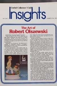 Goebel Figurines Collectors Club Insights Magazine 1973 1983