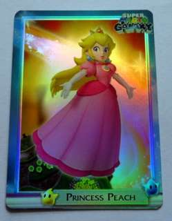 Princess Peach   SUPER MARIO GALAXY Wii   Foil Trading Card   NINTENDO