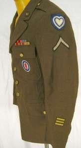 Vintage 1942 WWII US Army XXIV 24th Amphibious Dress Field wool