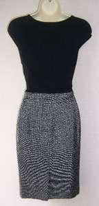 ANNE KLEIN Black Jersey Knit Versatile Dress 14 NWT