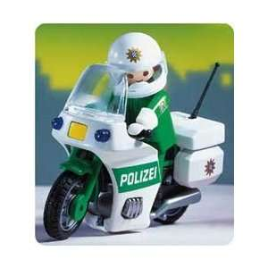 Playmobil Police Officer and Motorcycle: Toys & Games